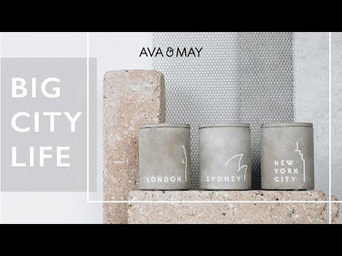 AVA & MAY: Concrete Candles New York City, London und Sydney