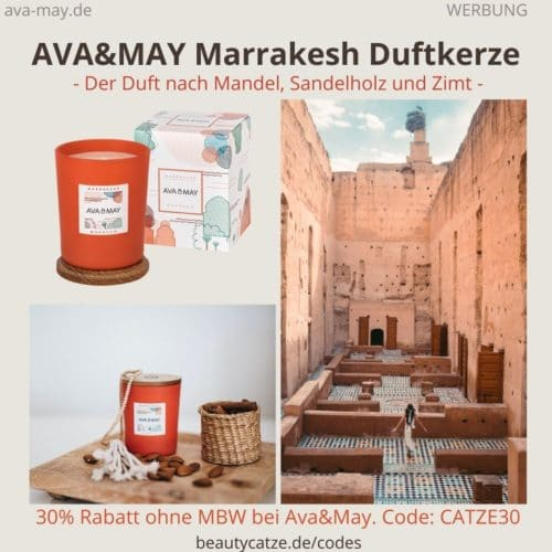 Duftkerze MARRAKESH Morocco Ava & May Erfahrungen Nutzer Bewertung (180g Kerze)