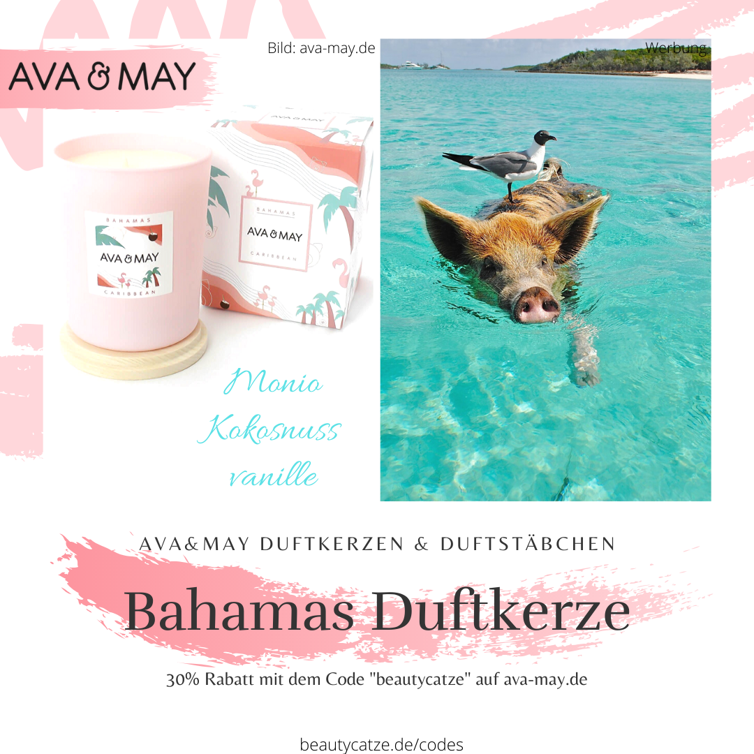 AVA and MAY Bahamas Duftkerzen Erfahrungen Karibik avamay Kerzen beautycatze