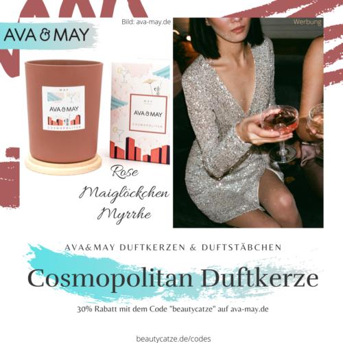 AVA and MAY Cosmopolitan MAY Duftkerzen Erfahrungen avamay Kerzen beautycatze