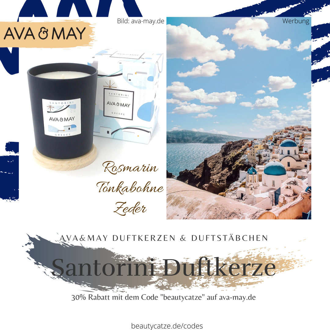AVA and MAY Santorini Greece Duftkerzen Erfahrungen avamay Kerzen beautycatze