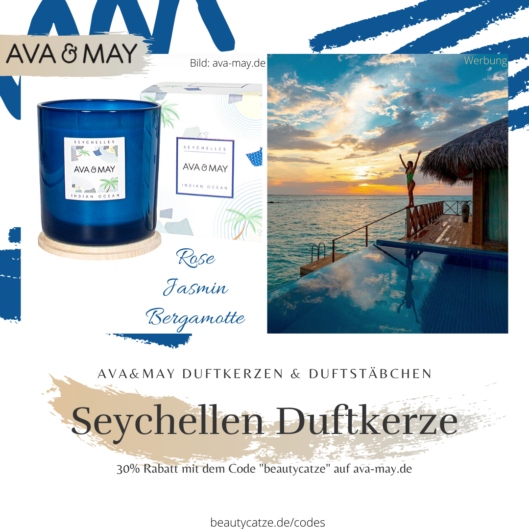 AVA and MAY Seychellen Duftkerzen Erfahrungen Ocean avamay Kerzen beautycatze