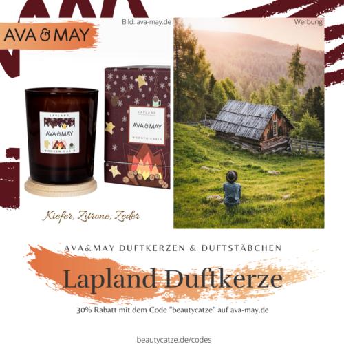 AVA and MAY WOODEN CABIN Duftkerzen Erfahrungen Lappland avamay Kerzen beautycatze