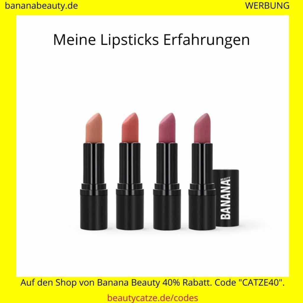 Banana Beauty Erfahrungen Lipsticks beautycatze