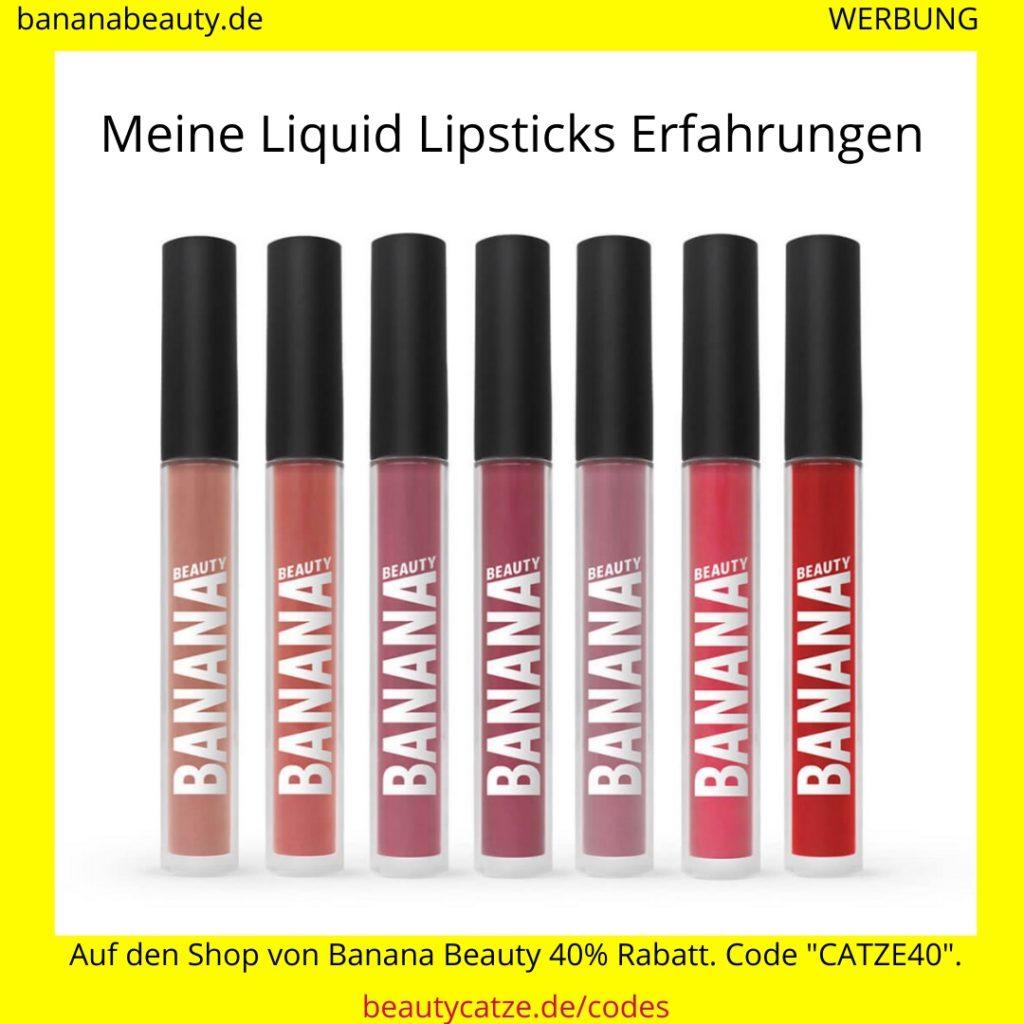 Banana Beauty Erfahrungen Liquid Lipsticks beautycatze