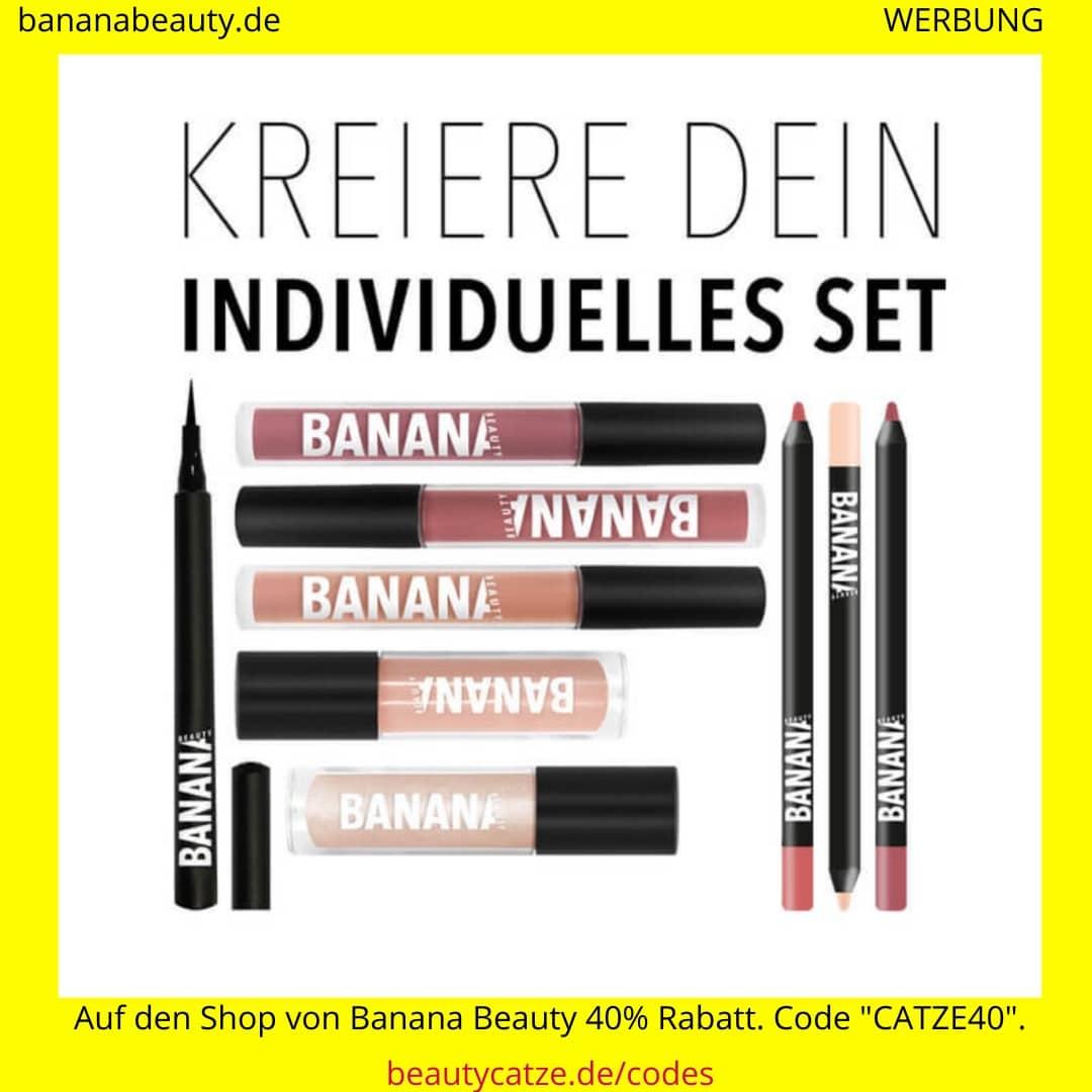 Banana Beauty Set erstellen Produkte Liquid Lipsticks Lipliner Eyeliner beautycatze
