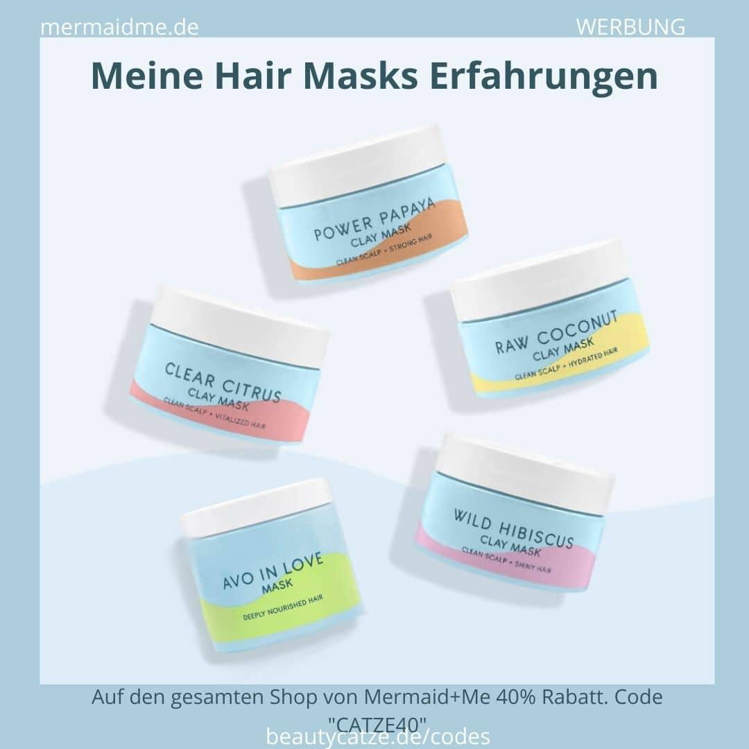 Mermaid+Me Erfahrungen Haarmasken Hair Masks Bewertungen Test Anwendung