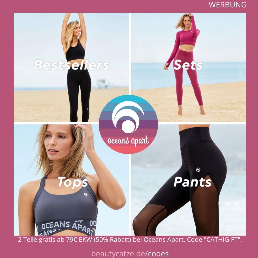 """Oceans Apart stellt vegane und fair hergestellte Fitness Kleidung her, die wie eine zweite Haut sitzt, deinen Body formen, keine Nähte besitze, atmungsaktiv sind und dazu noch richtig gut aussehen. Sind auch alltagstauglich. Ab 79€2 Teile gratis: 50% Code: """"CATHIGIFT"""" alle Rabattcodesansehen(3 Codes) Oceans Apart Erfahrungsberichte >> im Shop stöbern"""