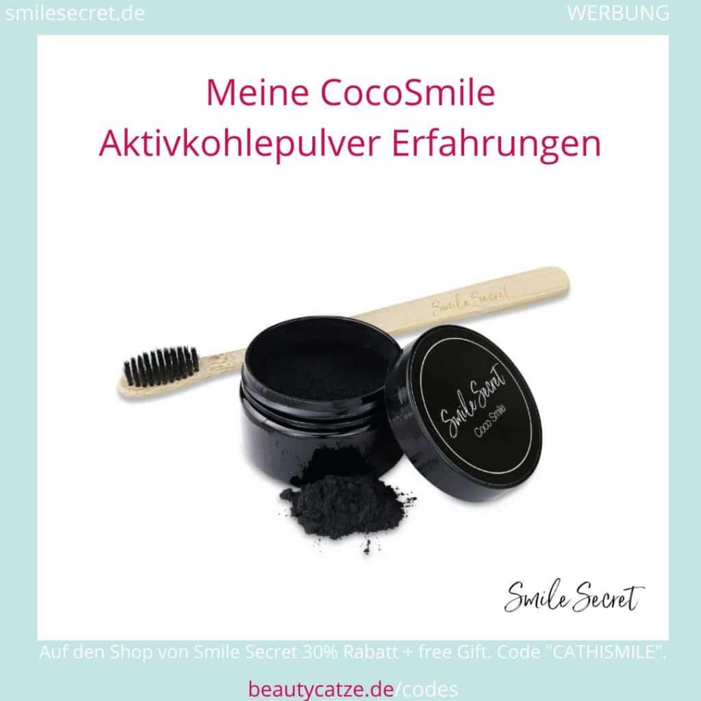 Smile Secret Erfahrungen Aktivkohlepulver Coco Smile beautycatze