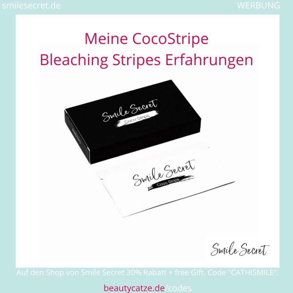 Smile Secret Erfahrungen CocoStripes Aktivkohle Bleaching Stripes beautycatze