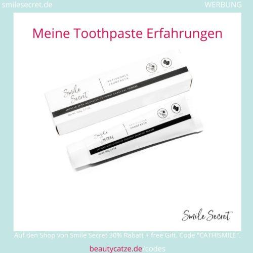 Smile Secret Erfahrungen Toothpaste Zahnpasta beautycatze