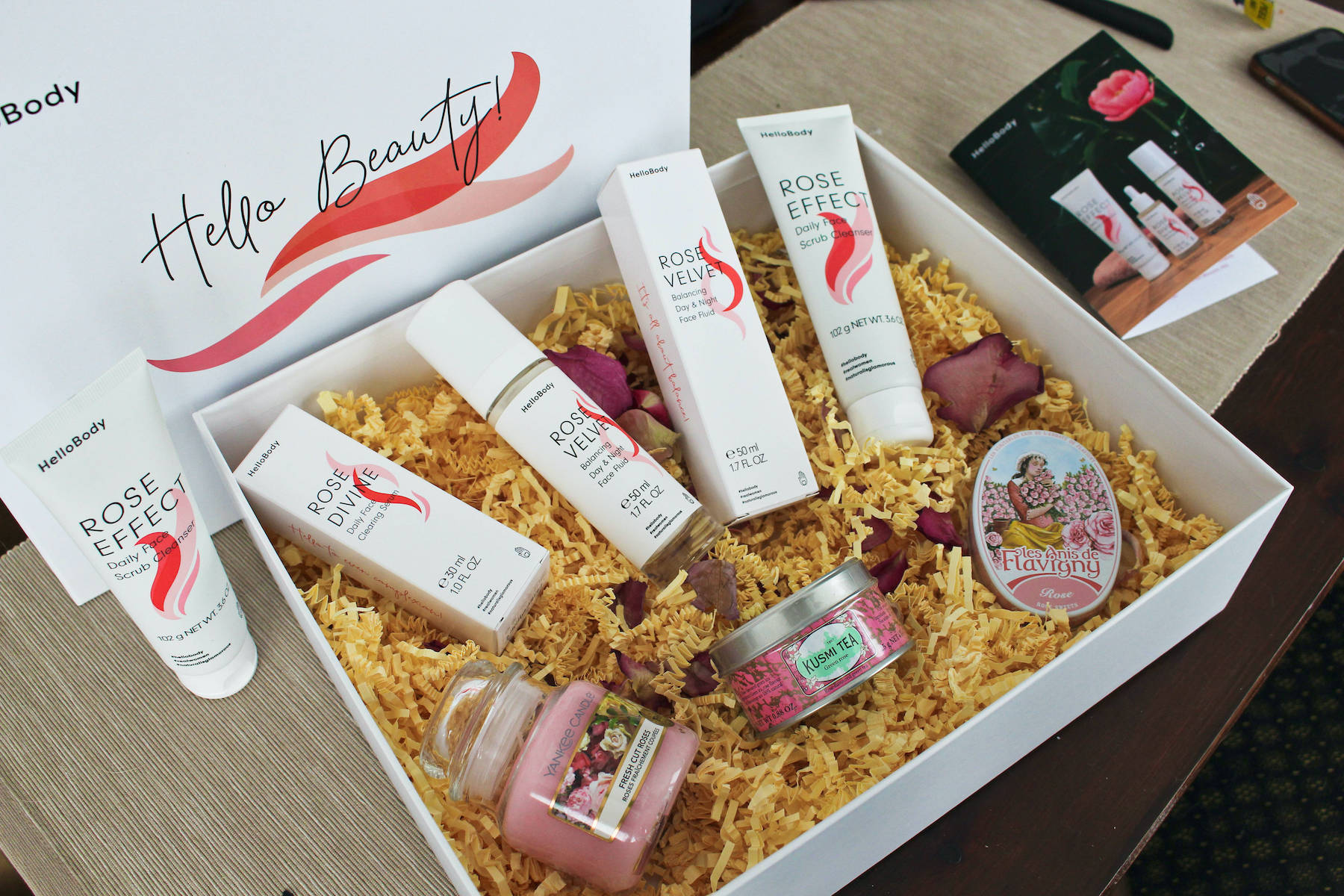 Hello Body Rose Linie Unboxing PR Sample Box beautycatze