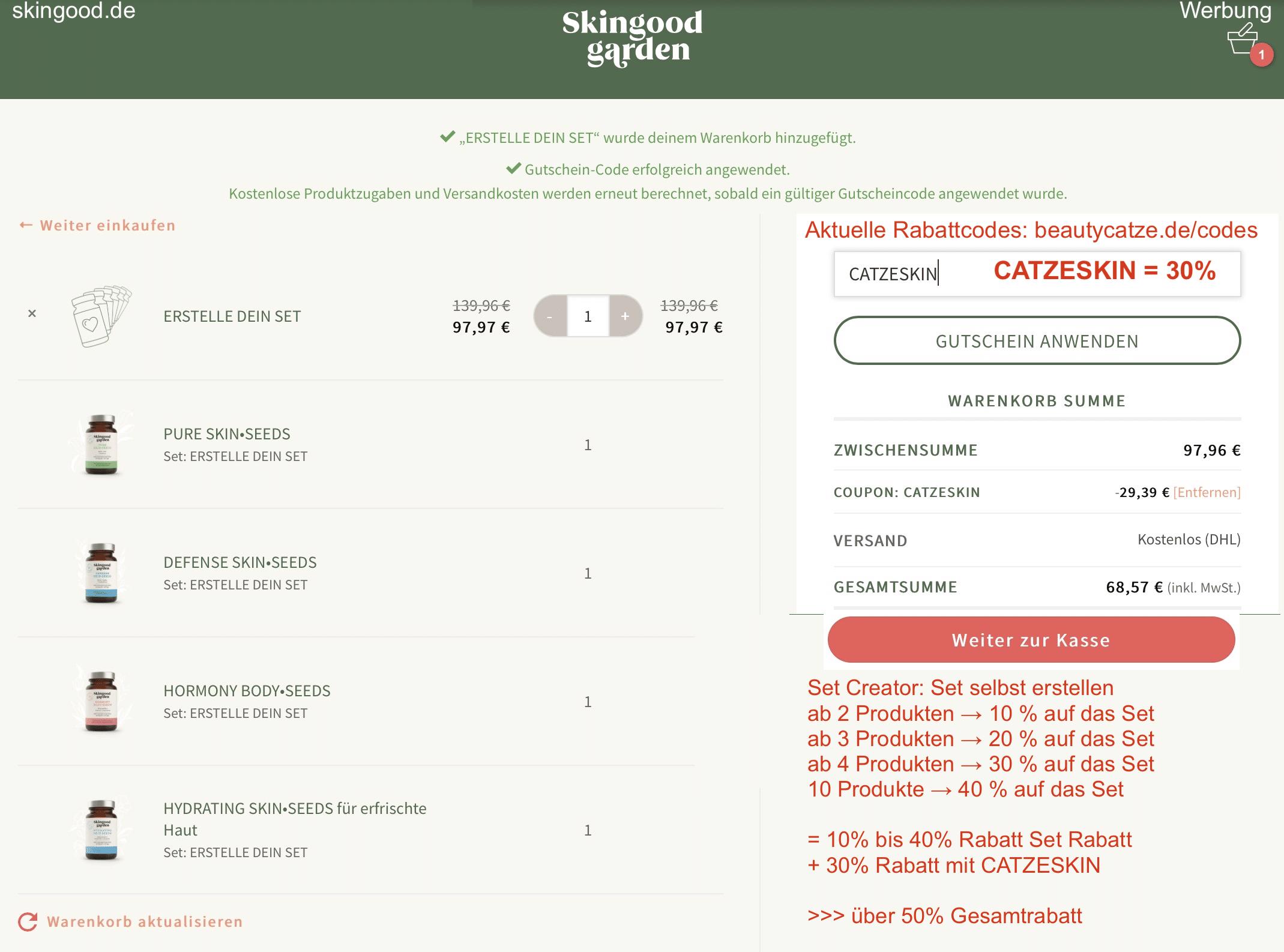 SKINGOOD GARDEN RABATT GUTSCHEIN CODE 50%