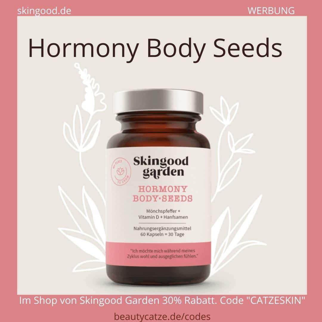 Skingood Garden Erfahrungen Hormony Body Seeds Kapseln Nahrungsergänzungsmittel beautycatze