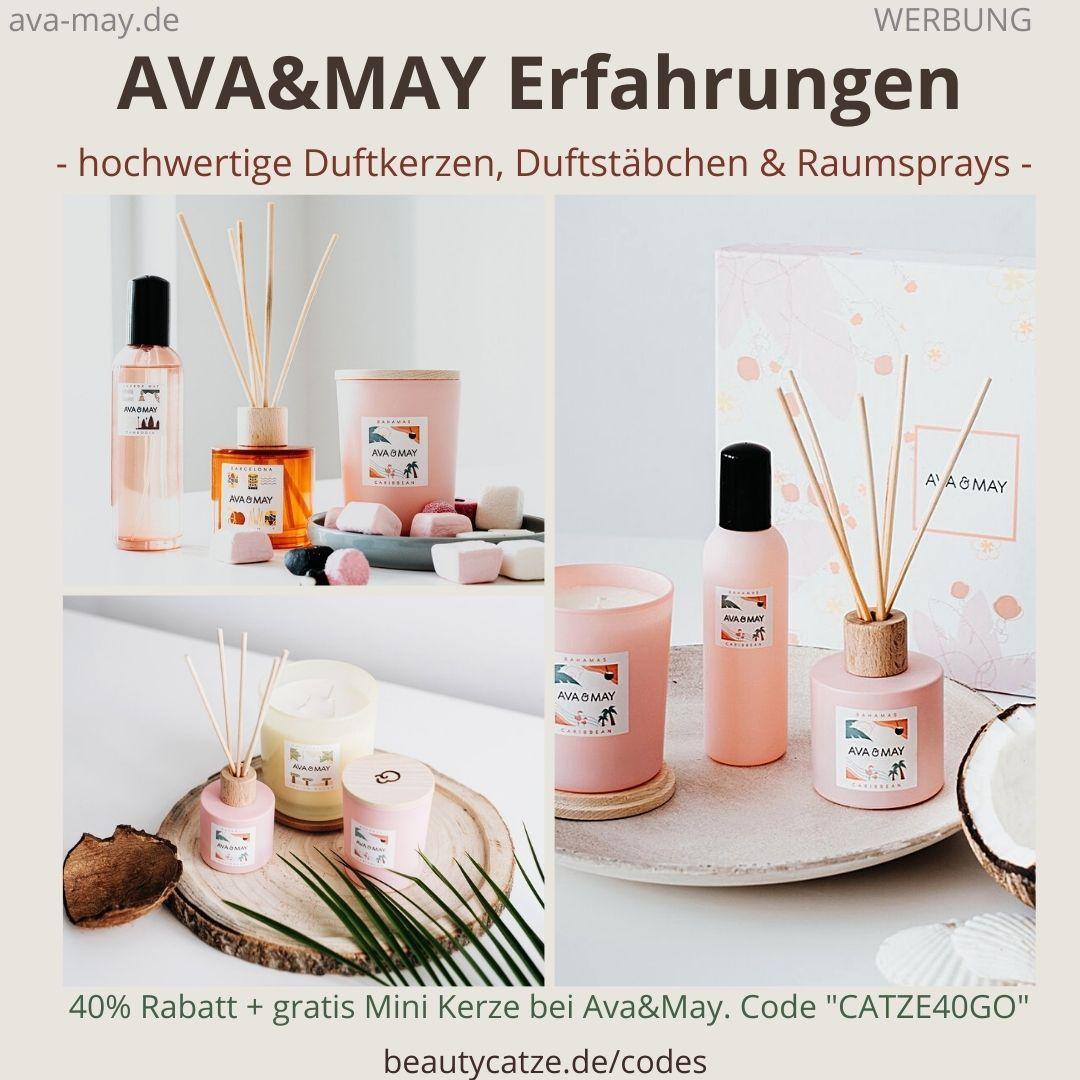 AVA and MAY Erfahrungen Duftkerzen 500g Kerze 180g Raumsprays Duftstäbchen avaandmay
