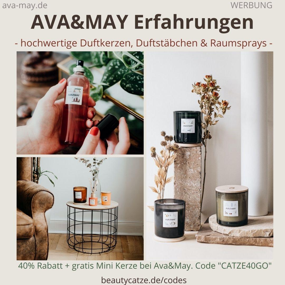 AVA and MAY Erfahrungen Duftkerzen 500g Raumsprays Duftstäbchen avaandmay
