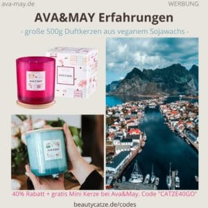 Erfahrungen AVA&MAY vegane Duftkerzen Kerze Bewertung