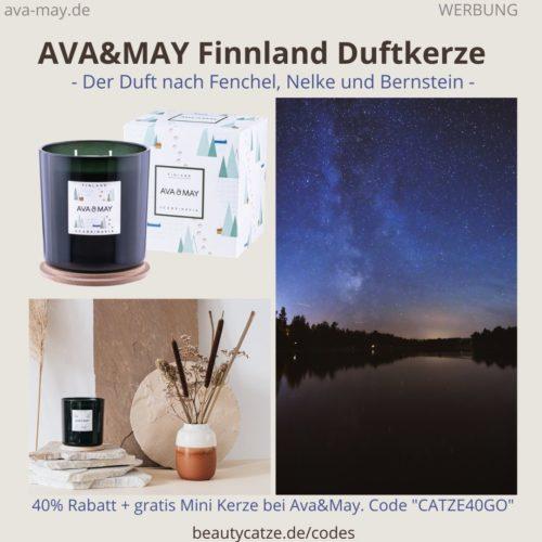 FINNLAND Skandinavien AVA and MAY Erfahrung große Duftkerze