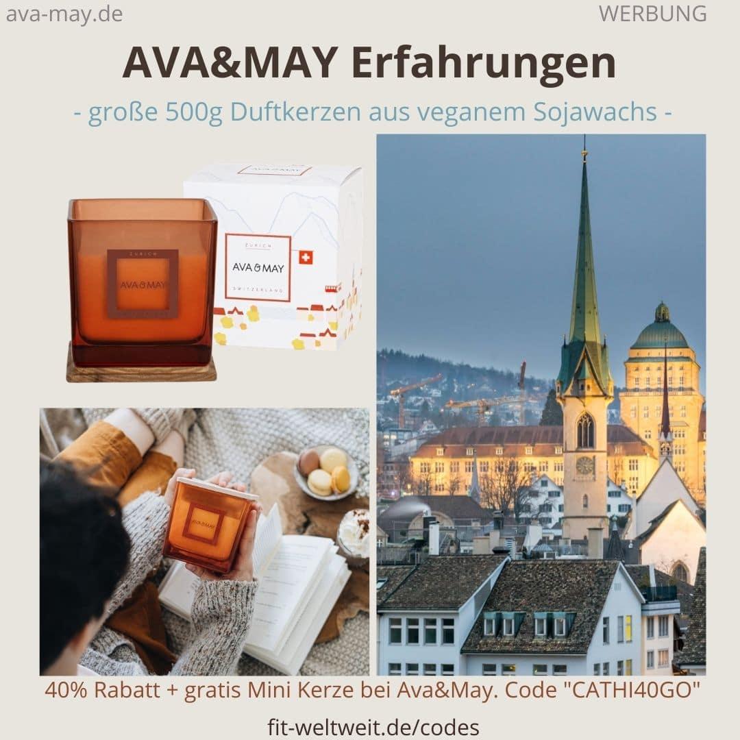 500g Duftkerzen eckig AVA and May Erfahrungen Strasbourg Zurich
