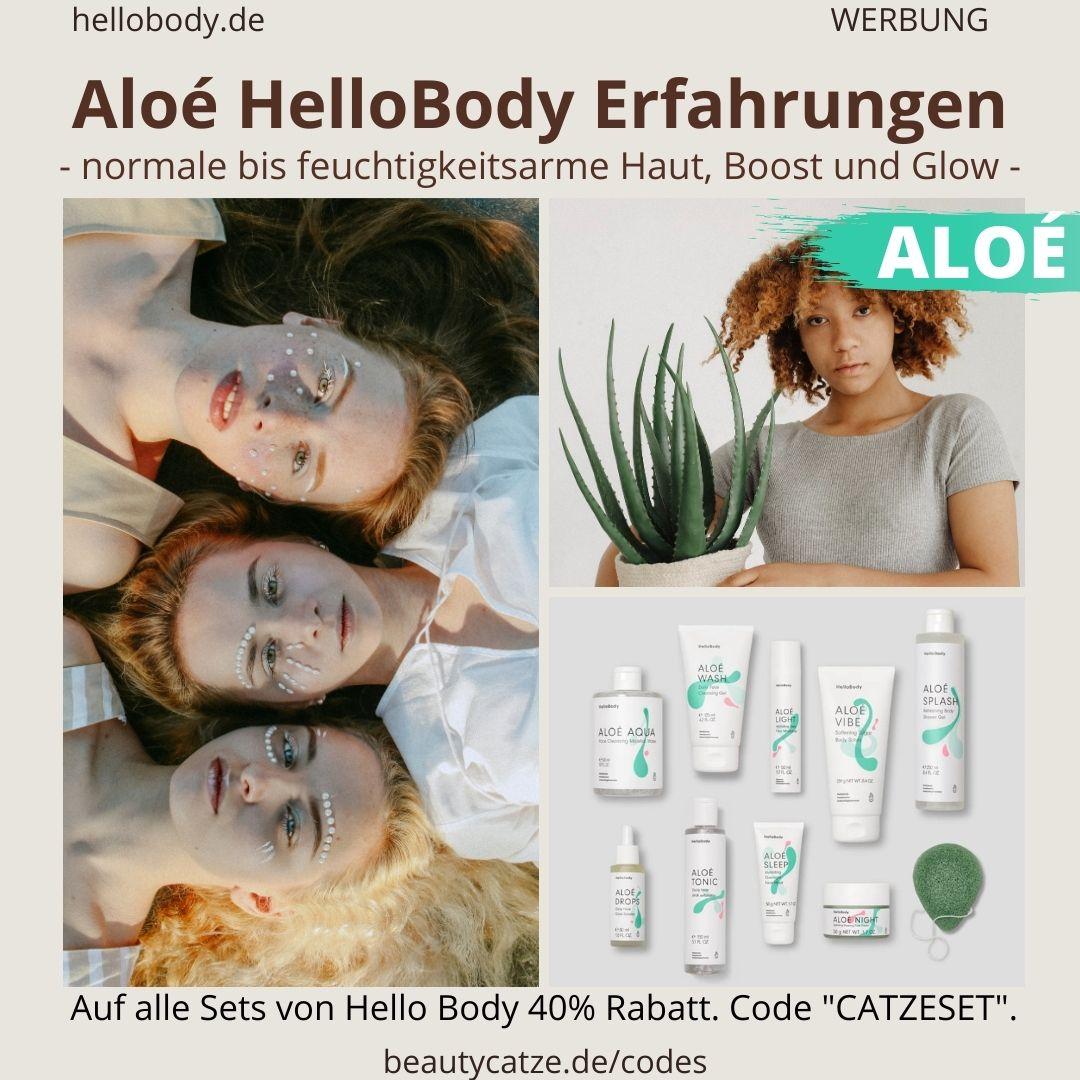 ALOE Hello Body Erfahrungen Gesicht Körper trockene Haut Bewertungen