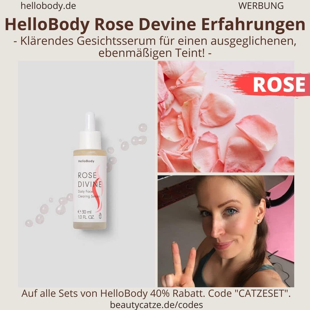 Hello Body Linie ROSE DEVINE Anwendung Erfahrungen Clearing Serum Bewertung
