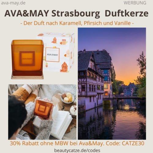 Strasbourg Ava and May Erfahrungen Karamellduft Duftkerze eckig 500g