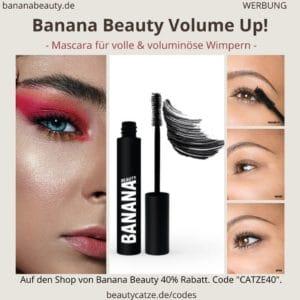 i. B. MUSTER Banana Beauty VOLUME UP! Mascara Erfahrungen (schwarze Volumen-Wimperntusche)