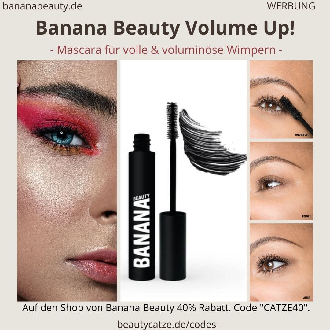 i. B. MUSTER Banana Beauty VOLUME UP! Mascara Erfahrungen (schwarze Volumen-Wimperntusche)