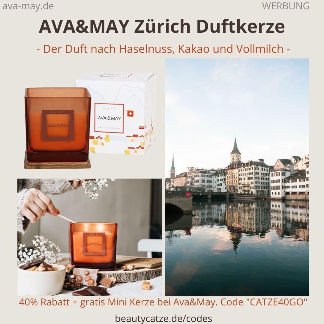 Zurich Schwitzerland 500g Duftkerze AVA and MAY Erfahrung