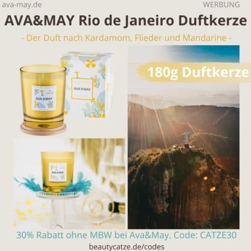 AVA and MAY RIO DE JANEIRO Brazil Duftkerze Erfahrung 180g Kerze Ava&May