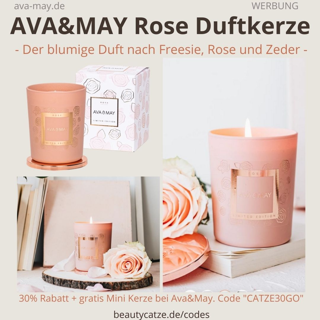 Ava May Kerze Rose Duft Bewertung rosa Duftkerze