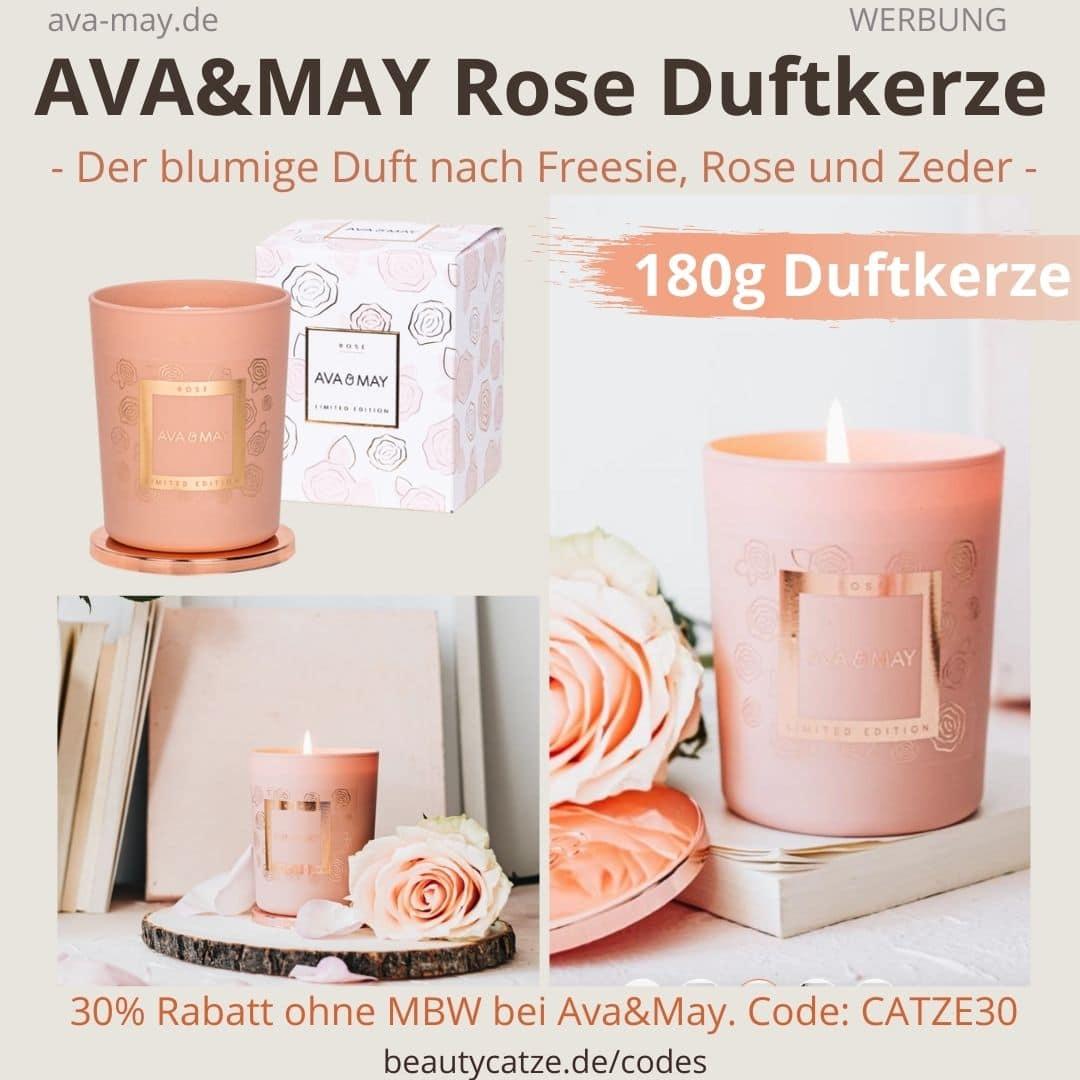 Ava May Kerze Rose Duftkerze Bewertung Rosenduft Kerze