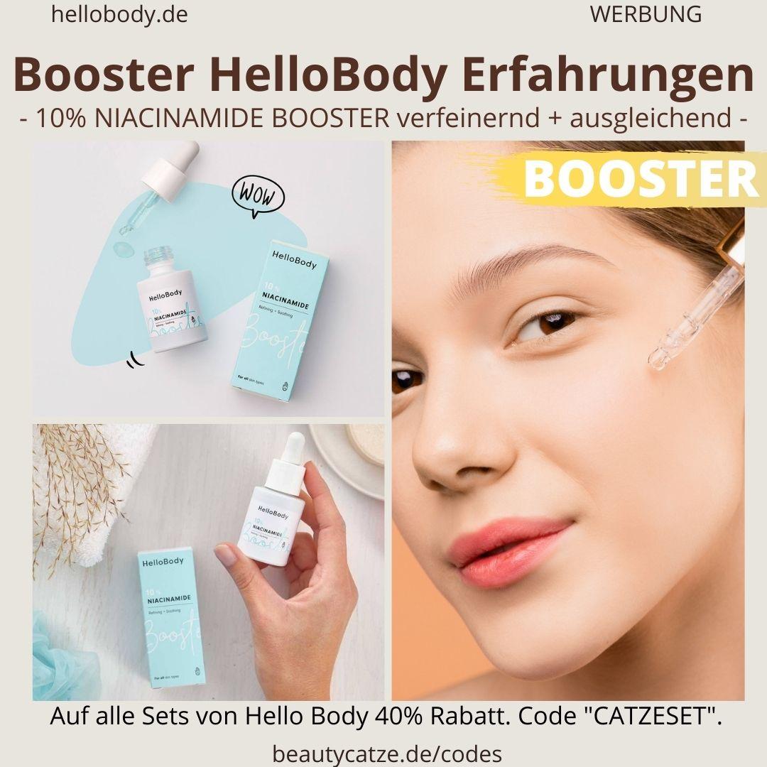 Booster Hello Body Erfahrungen NIACINAMIDE Bewertungen Wirkung