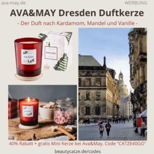 DRESDEN Ava and May Duftkerze Erfahrungen Weihnachten Kerze Bewertung Duft Kardamom Mandel Vanille Germany