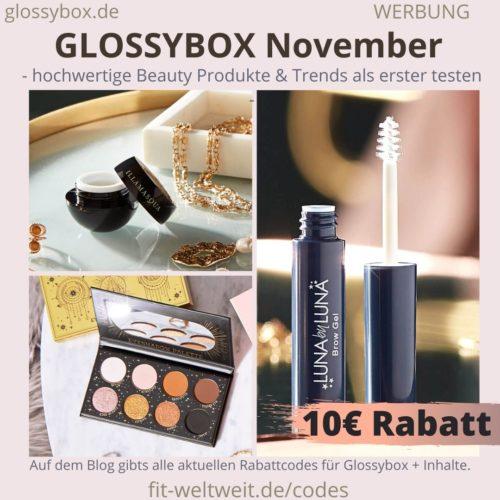 Glossybox Januar 2021 2020 Inhalte Rabattcode