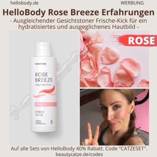 Hello Body Linie ROSE BREEZE Erfahrungen Face Toner Anwendung Bewertung