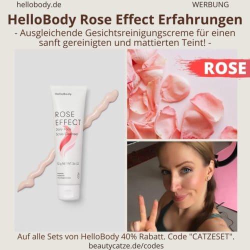 Hello Body Linie ROSE EFFECT Erfahrungen Peeling Creme Anwendung Bewertung