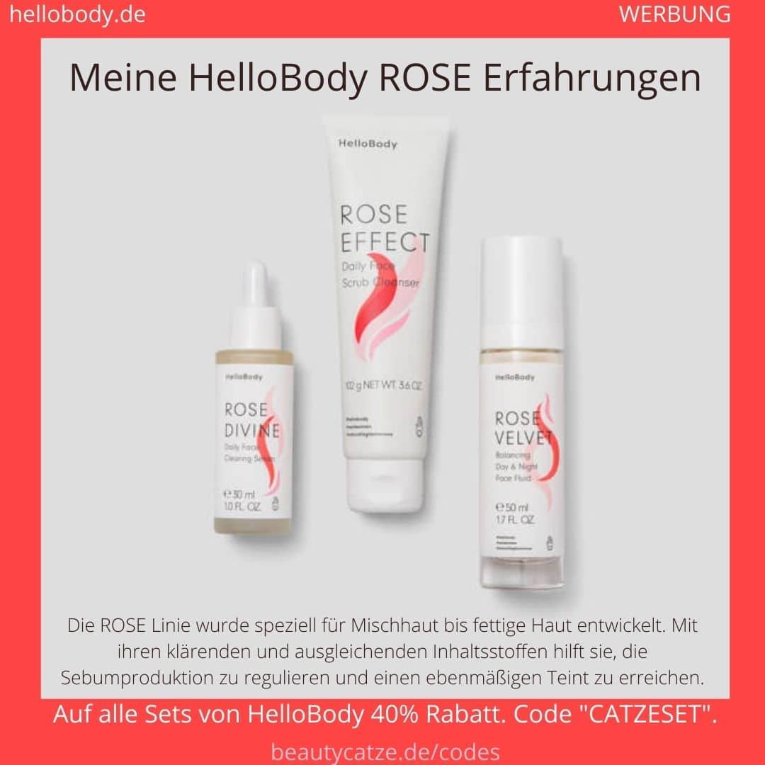 Hello Body ROSE Erfahrungen Creme Toner Serum Peeling Bewertung