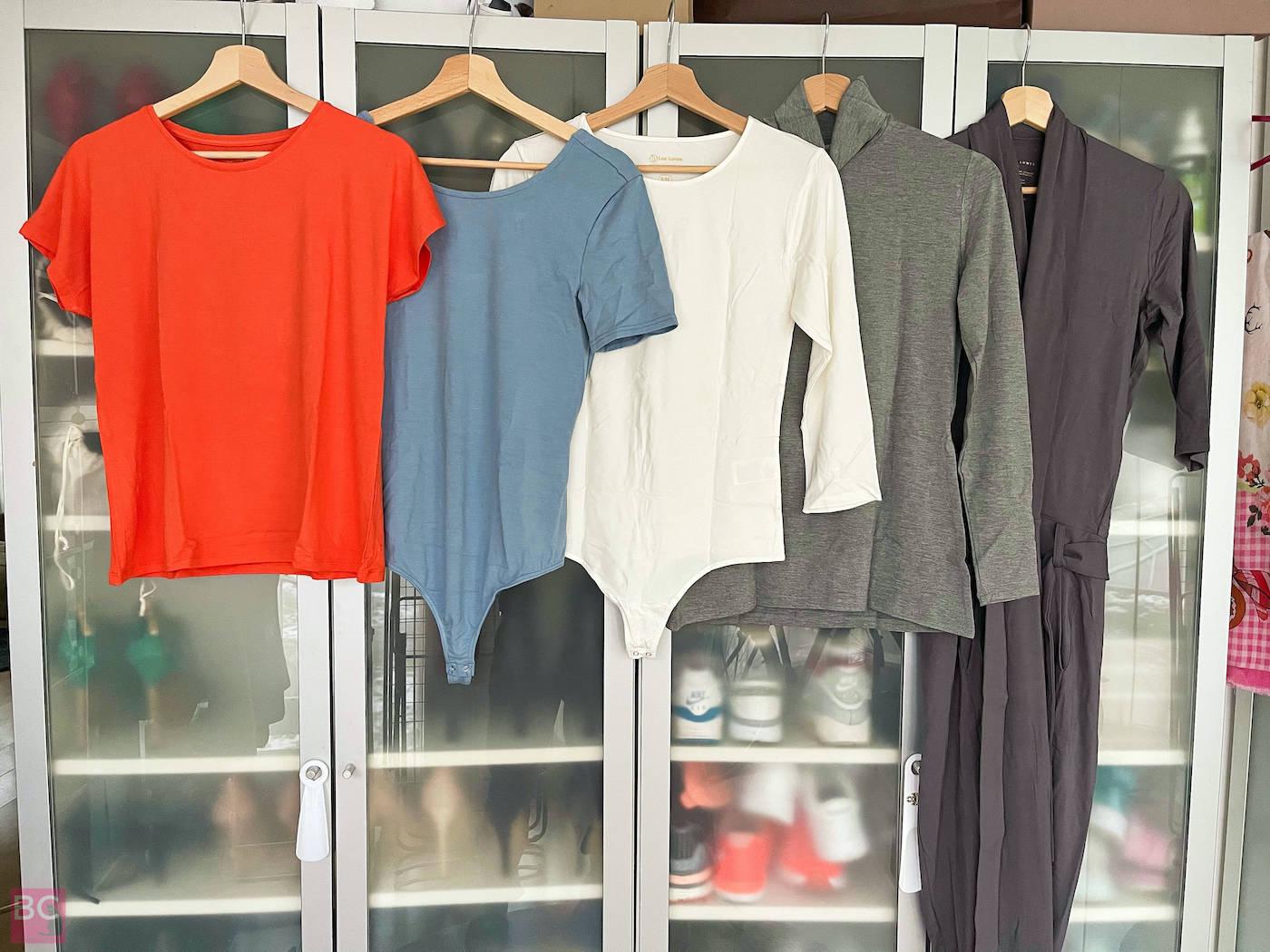 LES LUNES ERFAHRUNGEN GREENWASHING Mia Shirt, Emma Bodysuit, Alena Bodysuit, Steve Turtleneck, Paul Jumpsuit
