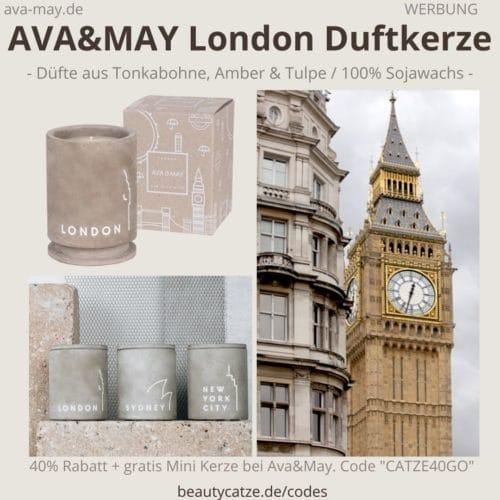 LONDON Ava and May BETON Kerzenständer Duftkerzen Erfahrung Bewertung