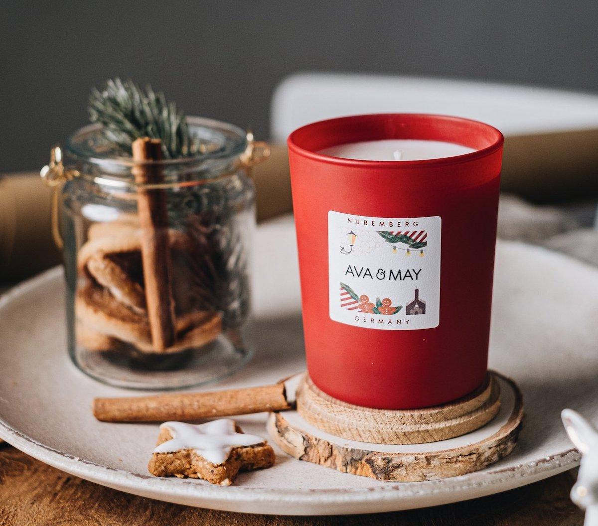 Nürnberg Duftkerze Weihnachten Duft Glühwein Ava & May Erfahrungen Bewertungen