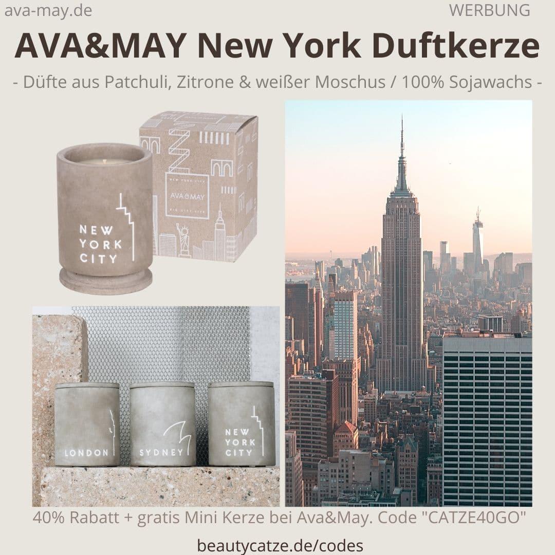 NEW YORK Ava and May BETON Kerzenständer Duftkerzen Erfahrung Bewertung