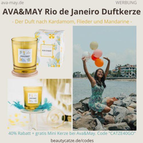RIO DE JANEIRO Brazil Duftkerze AVA and MAY Erfahrung 180g Kerze Ava&May