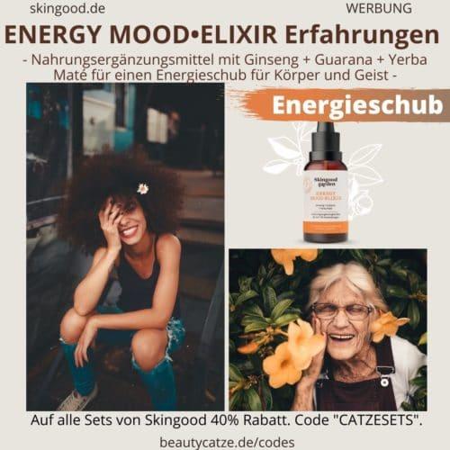 Skingood Garden Erfahrungen ENERGY MOOD ELIXIR Serum Tropfen Test Nahrungsergänzungsmittel
