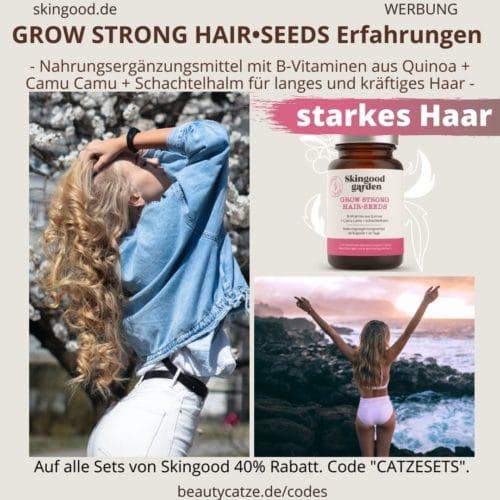 Skingood Garden Erfahrungen GROW STRONG Hair Seeds Kapseln Test Nahrungsergänzungsmittel