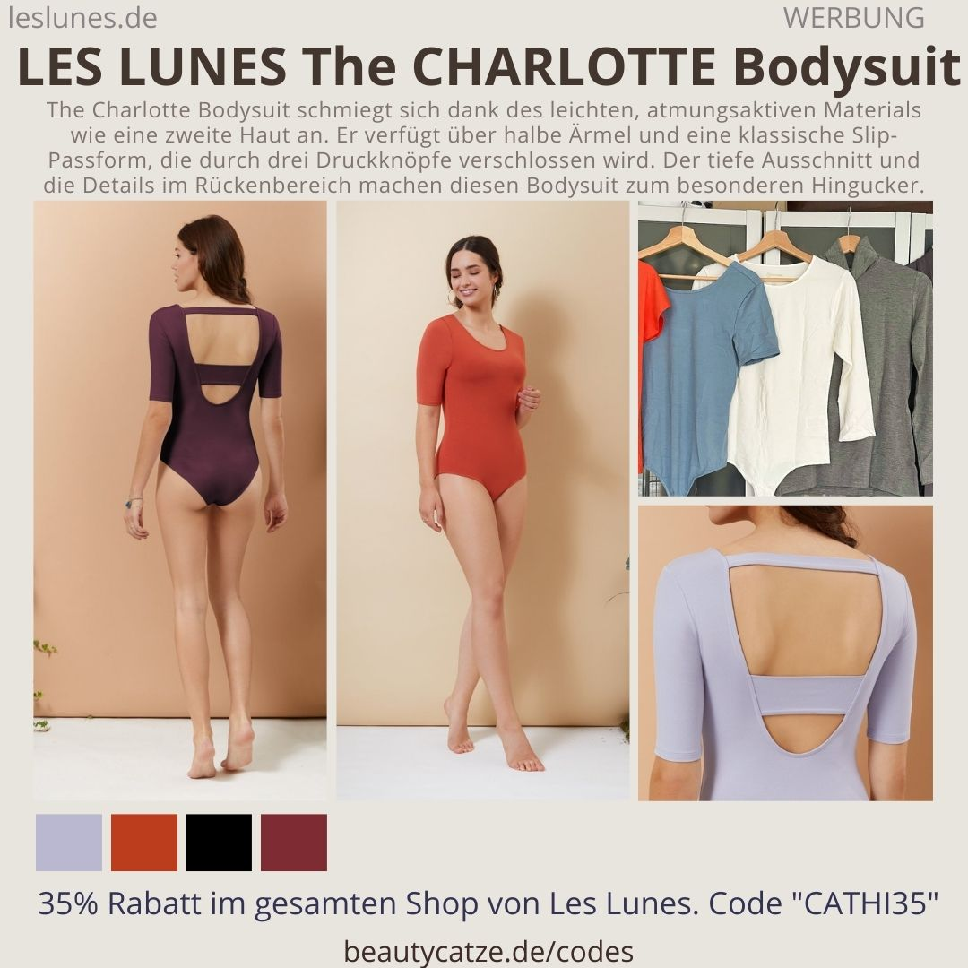 THE CHARLOTTE BODYSUIT Passform Tragekomfort Farben LES LUNES Erfahrungen