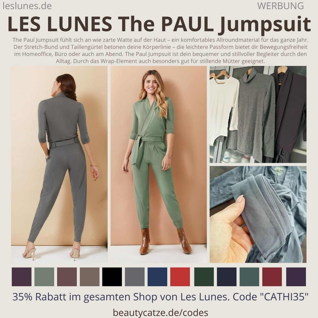THE PAUL JUMPSUIT TURTLENECK LES LUNES Erfahrungen Details Stoff Passform Größe