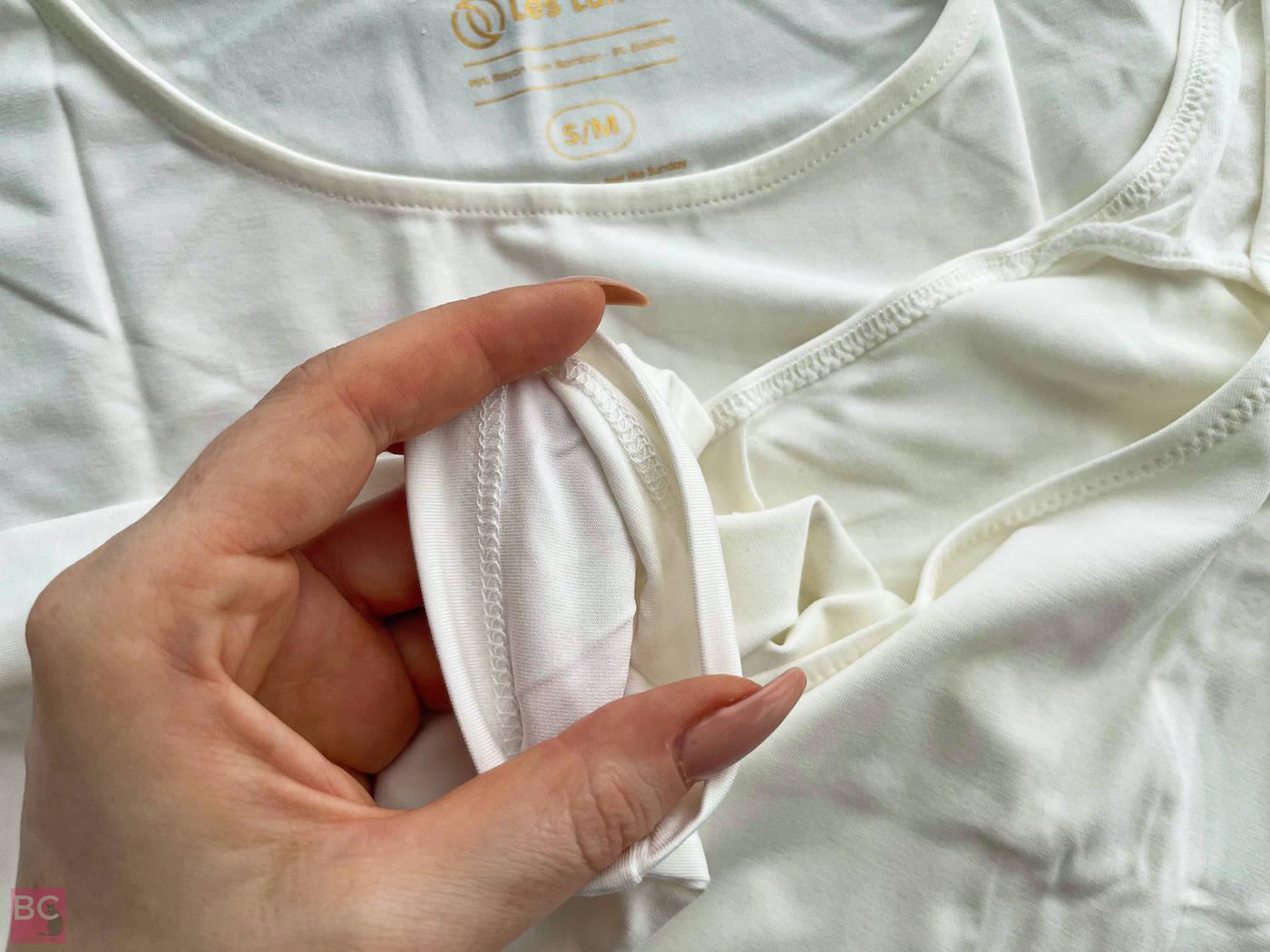 The ALENA Bodysuit Les Lunes ERFAHRUNGEN Details Ärmel Nähte innen Ansicht