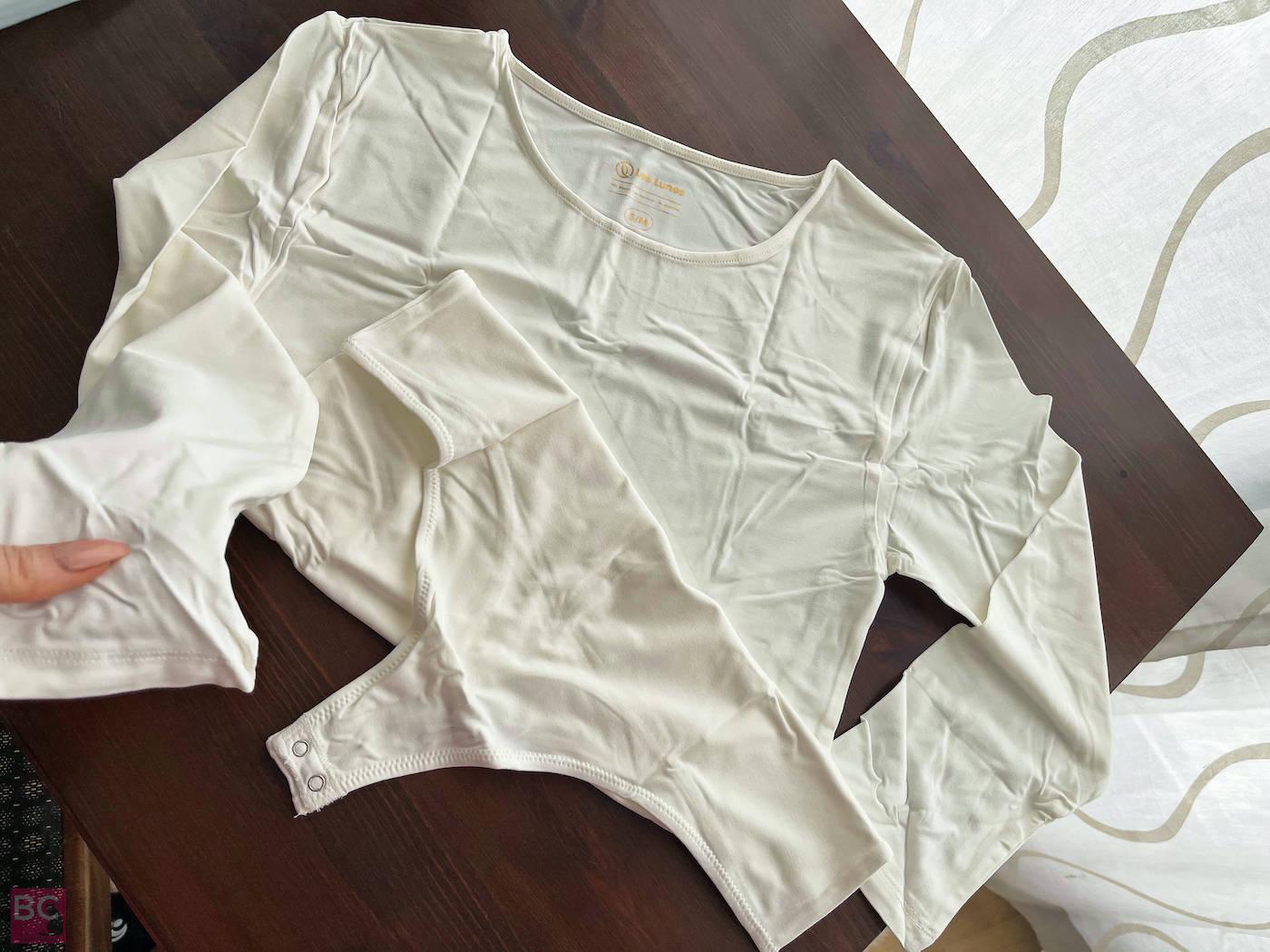 The ALENA Bodysuit Les Lunes ERFAHRUNGEN Details Ärmel Stoff