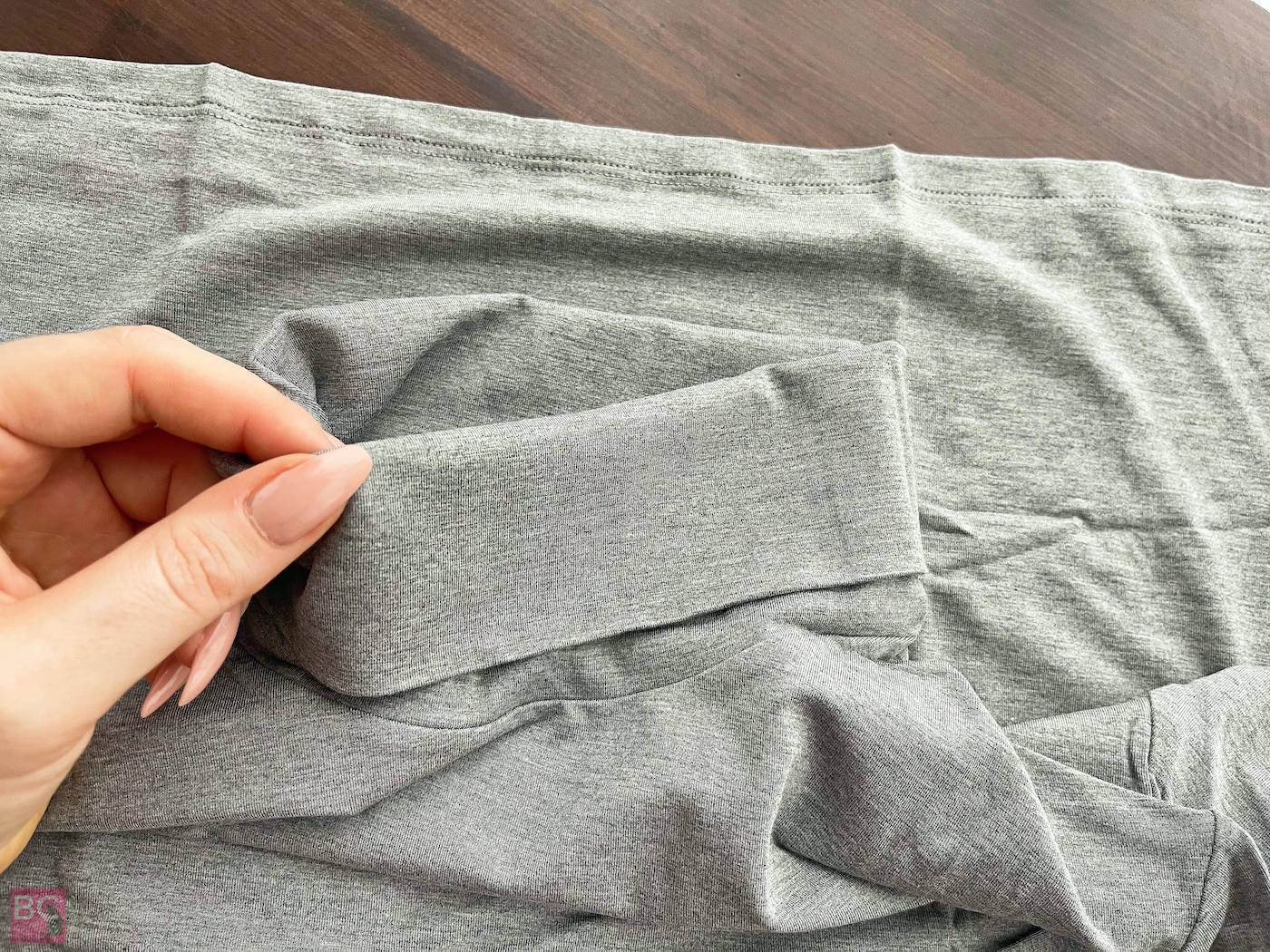 The Mia Shirt Les Lunes Erfahrungen Details Hals Kragen gefaltet Nähte verarbeitet